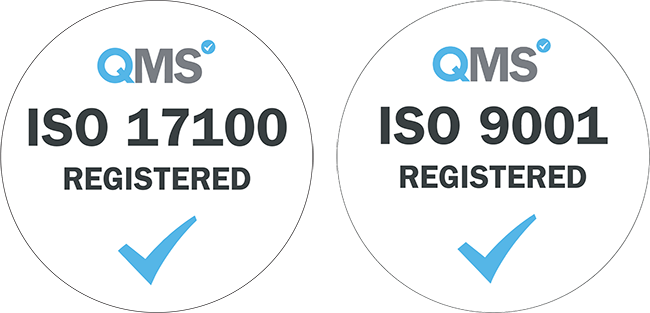 TRANSLIT is ISO 9001 and 17100 certified