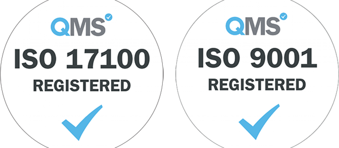 ISO 17100 and 9001 Certificate